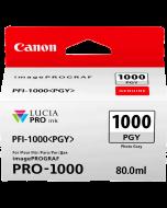 Cartouche d'encre Canon PFI-1000PGY (Photo Grise)