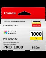 Cartouche d'encre Canon PFI-1000Y (Jaune)