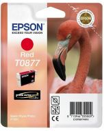 Encre Epson (Flamand Rose) pour Stylus Photo R1900 : High Gloss rouge (C13T08774010)