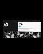 Encre HP 831 Latex Designjet 775ml- Cyan