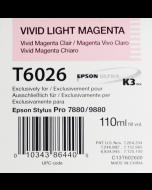 EPSON T6026 (C13T602600) - Vivid Magenta Clair 110ml