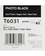 EPSON T6031 (C13T603100) - Noir Photo 220ml
