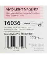 EPSON T6036 (C13T603600) - Vivid Magenta Clair 220ml