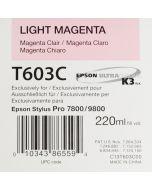 EPSON T603C (C13T603C00) - Magenta Clair 220 ml