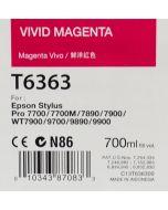 EPSON T6363 (C13T636300) - Cartouche d'encre Vivid Magenta - 700ml