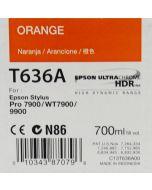 EPSON T636A (C13T636A00) - Cartouche d'encre Orange - 700ml