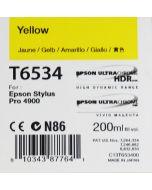 Epson T6534 (C13T653400) - Cartouche d'encre Jaune 200ml