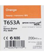 Epson T653A (C13T653A00) - Cartouche d'encre Orange 200ml