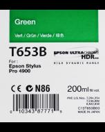 Epson T653B (C13T653B00) - Cartouche d'encre Vert 200ml