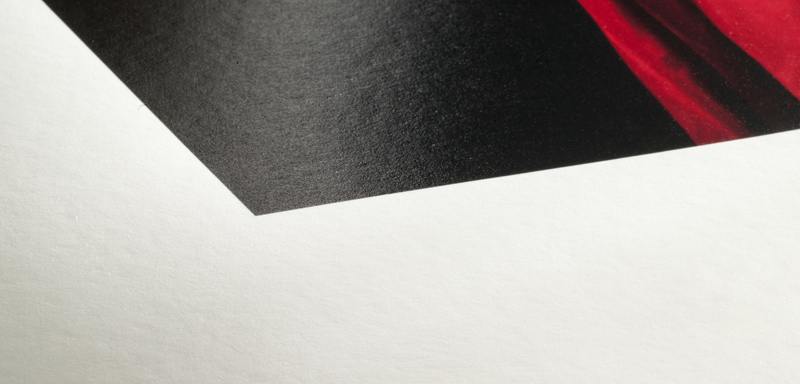 Texture du papier Hahnemuhle FineArt Baryta Satin